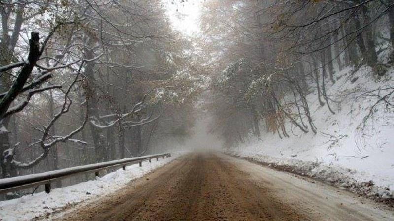 Първи сняг на прохода Петрохан
