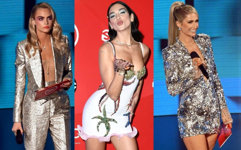 Стил, блясък и еротика в тоалетите на Американските музикални награди 2020