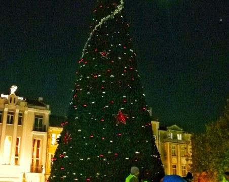 Коледният дух се настанява в Пловдив, вдигат 13-метровата елха