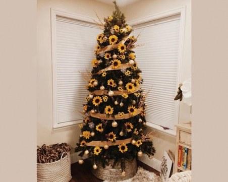 Коледни елхи, вдъхновени от слънчогледа, са новата празнична тенденция