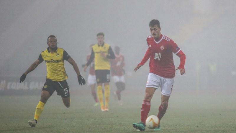 ЦСКА-София не успя срещу Йънг Бойс в европейския дебют на Акрапович