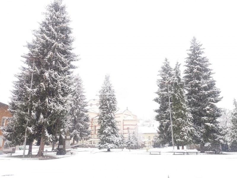 Сняг се сипе на парцали! Батак заприлича на град от приказките