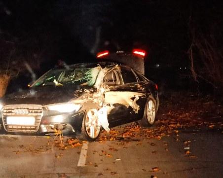 Катастрофа край Пловдив: Ауди блокира пътя за Кадиево