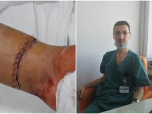 В болница в Пловдив спасиха от ампутация срязана с ъглошлайф ръка