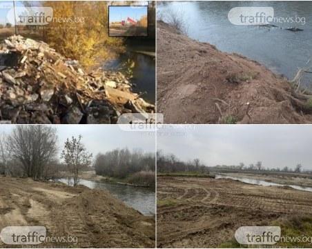 Фирмата на Гаджура, изхвърлила строителни отпадъци в Марица - укрепвала коритото