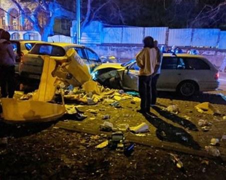 Шофьор на БМВ помля 7 паркирани коли