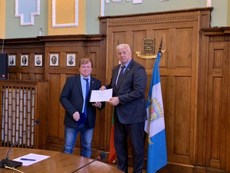 Кметът Здравко Димитров получи награда
