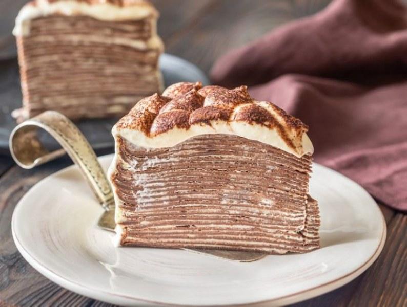 Рецепта за тирамису торта от палачинки