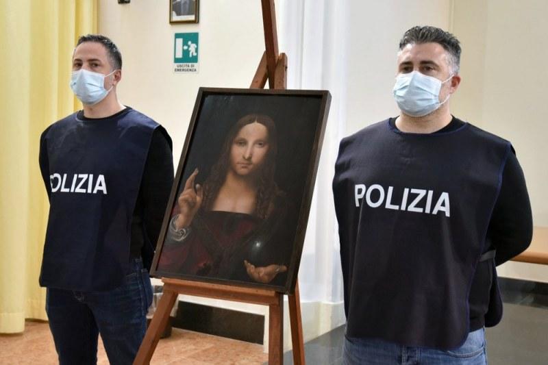 """Италианската полиция намери откраднато копие на Леонардо """"Спасителят на света"""