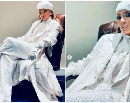 Джей Ло - цялата в Шанел, досущ като Снежната кралица за встъпването в длъжност на Джо Байдън