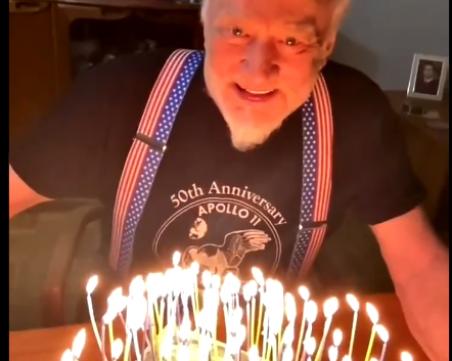 Вторият човек на Луната отбеляза по любопитен начин 91-ия си рожден ден
