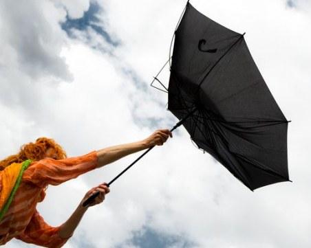 Обявиха жълт код за опасно силен вятър в цялата страна! В Пловдив се очакват пориви до 22 м/с