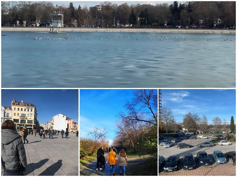 Пловдивчани излязоха да се порадват на слънцето, центърът се пръска по шевовете