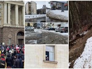 ОБЗОР: Пловдив осъмна с бяла покривка, ресторантьорският бранш блокира Триъгълника на властта
