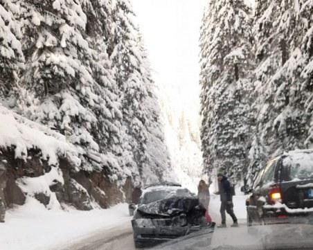 Катастрофа затруднява движението в района на Пампорово