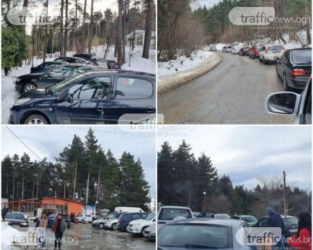 """Пловдивчани напълниха хижа """"Здравец"""", колони от коли задръстиха пътя"""