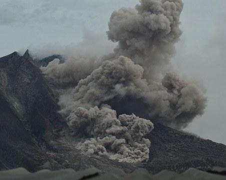 Изригнал вулкан изхвърли пепел на 2 км в небето, затвориха летище