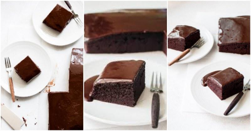 Бързи шоколадови блокчета с кисело мляко