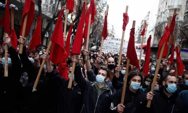 Десетки задържани при протести в Гърция