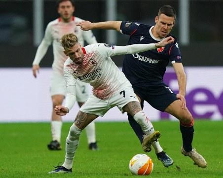 Милан се измъчи срещу Цървена звезда, Лестър и Байер Леверкузен аут (всички резултати от Лига Европа)