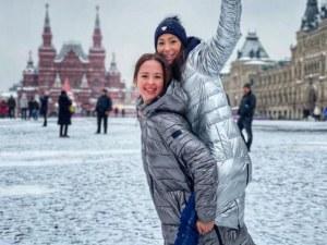 Истинско приятелство: Златните момичета Христиана и Цветелина щастливи в Москва