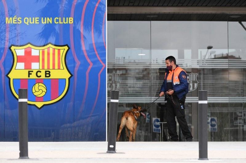 Барселона с официално изявление след претърсването на офисите