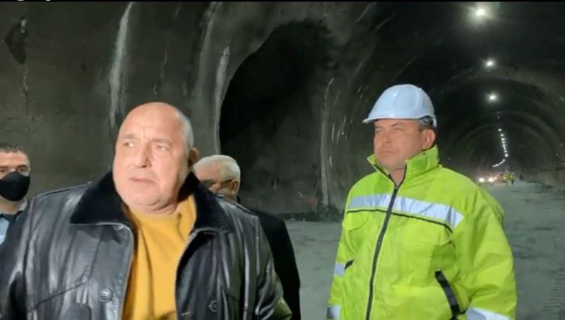 Борисов: Трябва да въведем в ред всички тунели в България