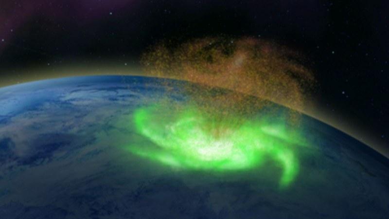 Космически плазмени урагани бяха открити над Северния полюс