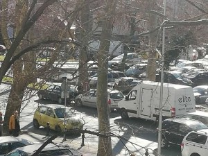 Верижна катастрофа в центъра на Пловдив