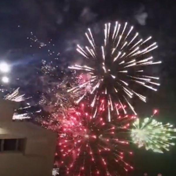 Красива заря в небето над Пловдив на Националния празник