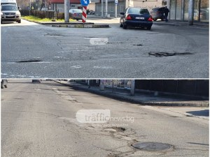 Ремонтират аварийно пловдивски булеварди с огромни дупки