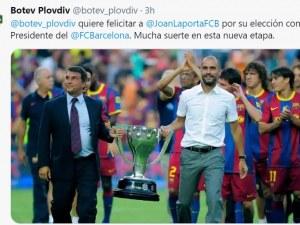 Ботев поздрави Лапорта за спечелените избори в Барселона