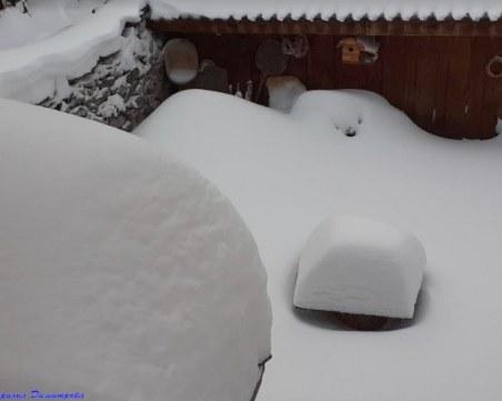"""80 см нов сняг във високите села от община """"Родопи"""", пробиват пътя за Лилково"""