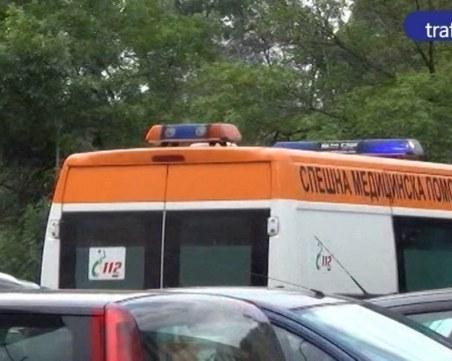 Багер с работник се обърна в крайпътното дере по пътя Юговско Ханче - Лъки