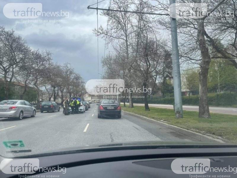 Верижна катастрофа в Пловдив! Три коли се нанизаха на булевард