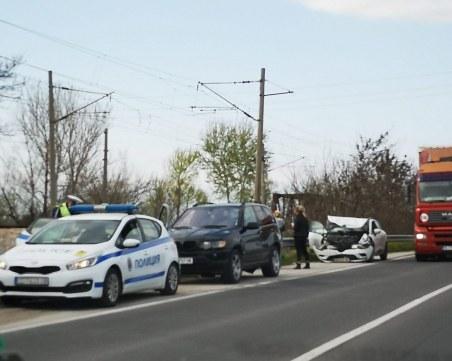 Кола и джип се удариха на Околовръстното на Пловдив