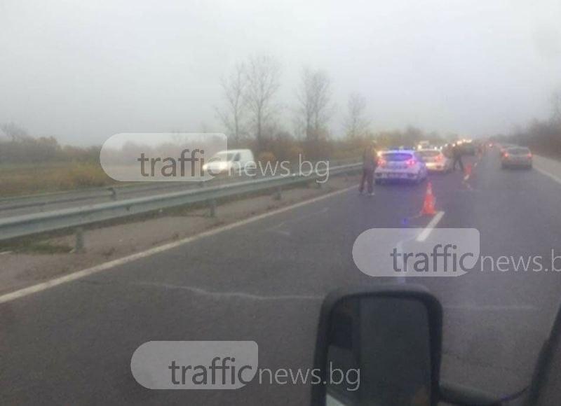 Пиян пловдивчанин предизвика катастрофа на магистрала Тракия, ударил се в камион