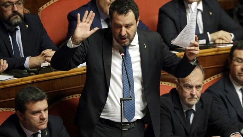 Съдят бившия италиански министър на вътрешните работи Матео Салвини