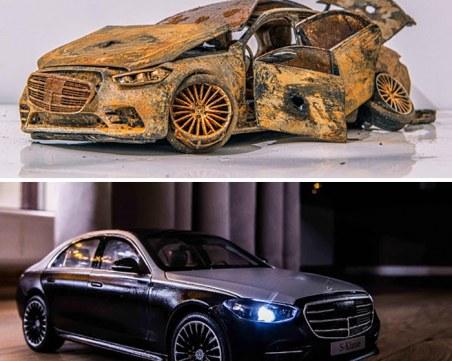 Художник възстанови напълно ръждиви и изоставени автомобили