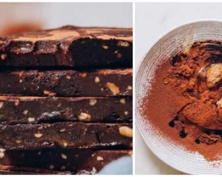 Постни, вкусни и здравословни сладки плочки само от 4 съставки