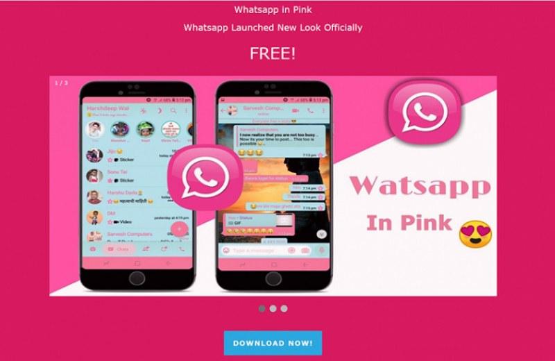 Внимание: Не инсталирайте WhatsApp в розово