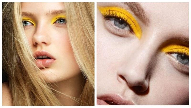 Този сезон носим жълти сенки за очи!