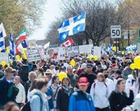 Протест в Монреал! Хората скочиха срещу локдауна и ваксинационните паспорти
