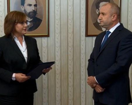 Нинова върна мандата, Радев посочи датата на предсрочните избори