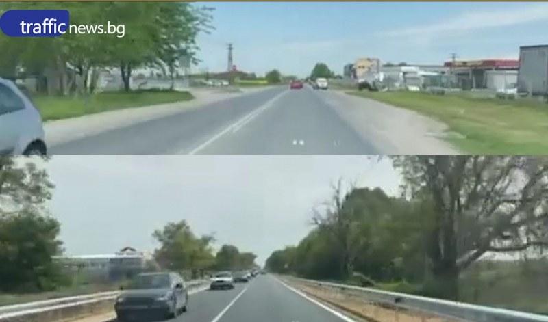 Околовръстното на Пловдив преди и сега! АПИ: Не е променян габаритът на пътя
