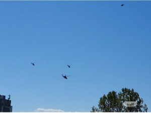 Бойни вертолети с български знамена прелетяха над Пловдив