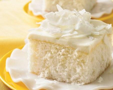 Десерт на деня: Торта с бял шоколад и кокос
