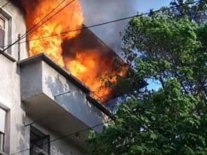 Пожар в жилищна кооперация в Пазарджик