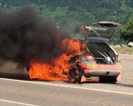 Трагедия: Кола се запали в движение - шофьорът загина, малката му дъщеричка е с тежки изгаряния