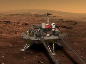 Китайската сонда успешно кацна на Червената планета